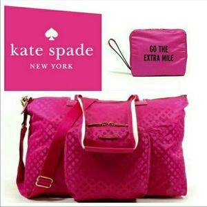 Kate Spade Hot Pink Bon Voyage Weekender Bag